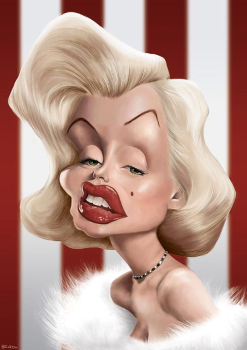 Marilyn monroe caricature