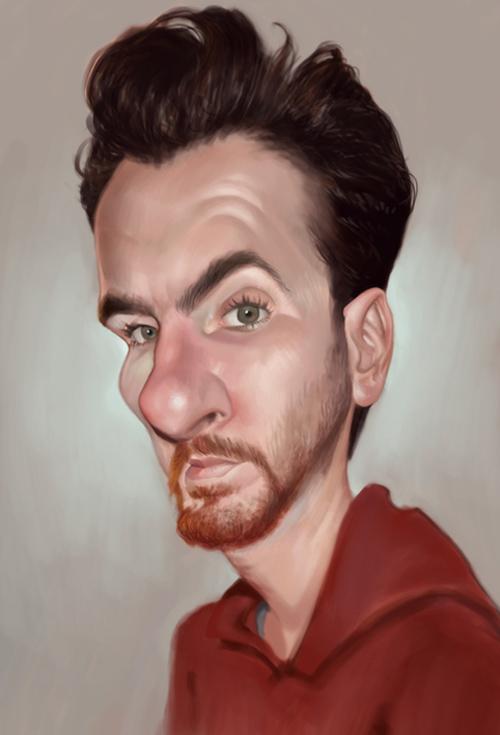 amit caricature artwork