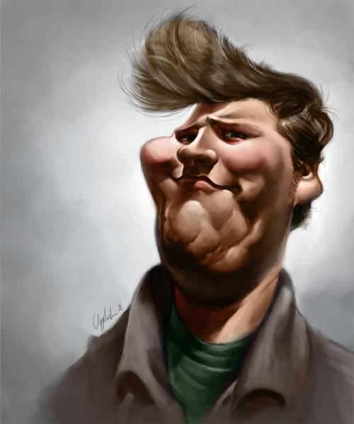 cool self caricature