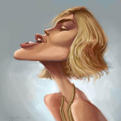 keira caricature artwork