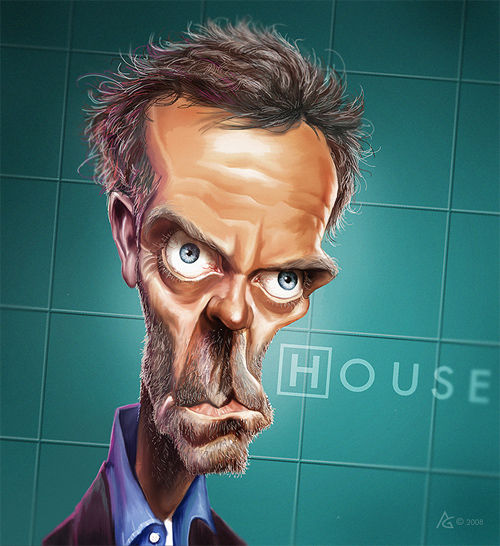 new dr house caricature