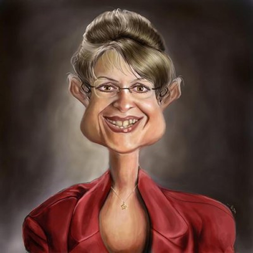 palin caricature artwork