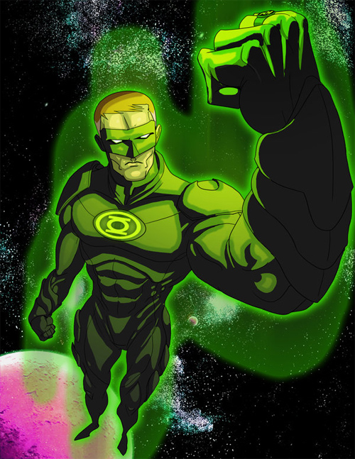 pretty awesome green lantern artwork