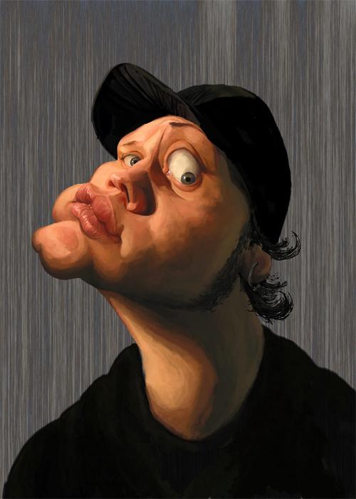 self caricature artwork