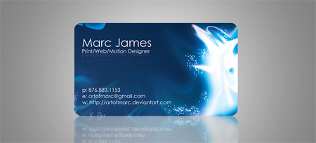 art of magic business card