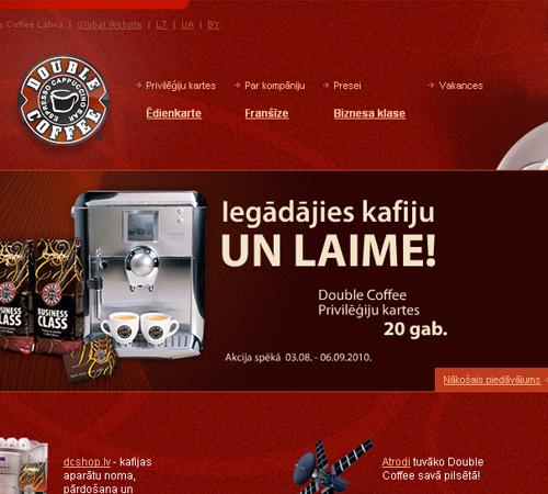 Coffee Websites - Double Coffee