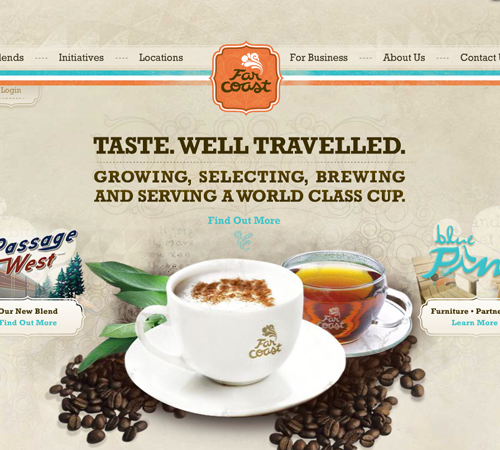 Coffee Websites - Far Coast