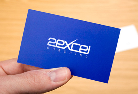 2excel coaching business card