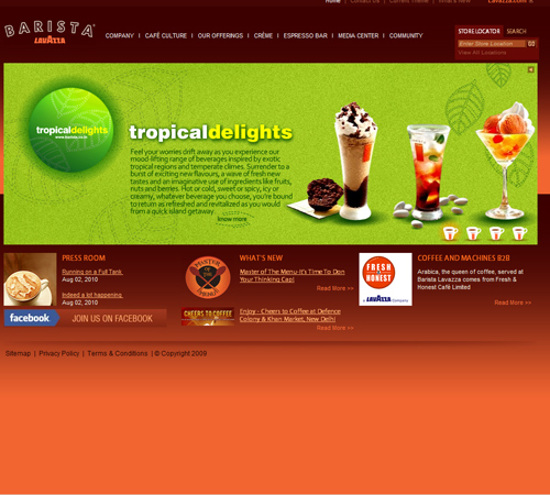Coffee Websites - Barista