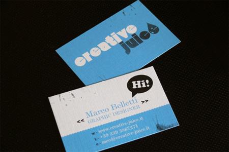 creative juice business card