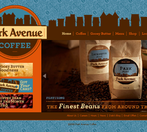 Coffee Websites - Park Avenue Coffee