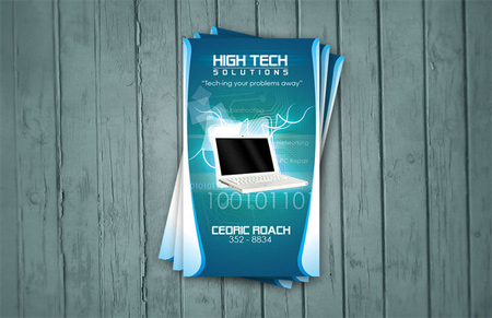 h-tech solutions business card