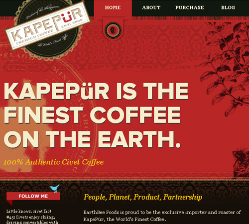 Coffee Websites - Kapepur