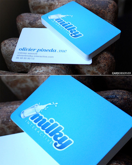 milky interactive business card