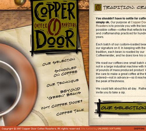 Coffee Websites - Copper Door Coffee