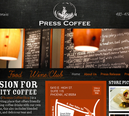 Coffee Websites - Press CFW