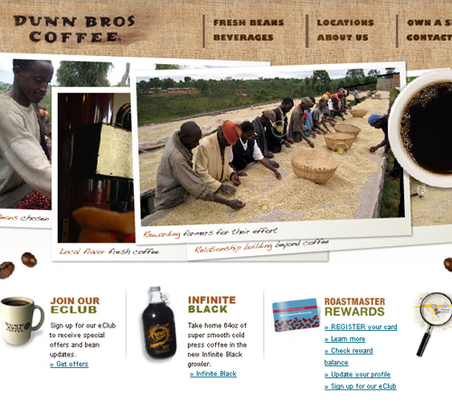 Coffee Websites - Dunn Bros