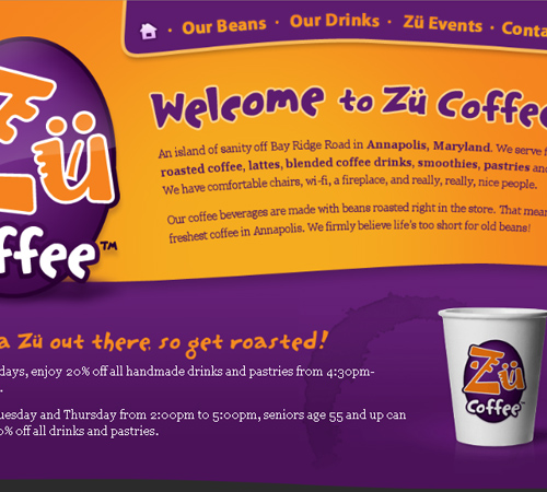 Coffee Websites - Zu Coffee