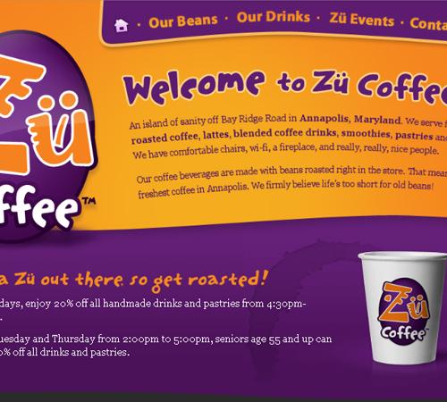 Coffee Websites - Zu Coffee