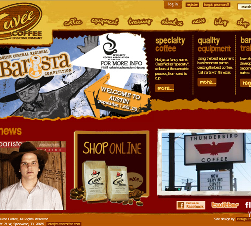 Coffee Websites - Uvee Coffee