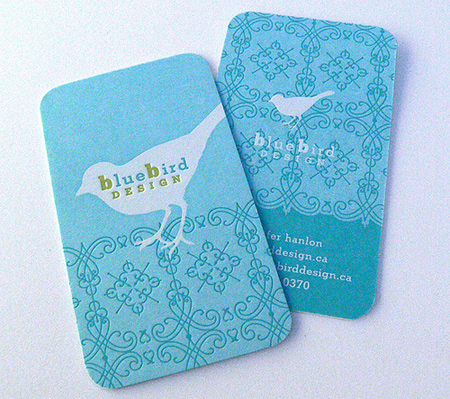 blue bird design business card