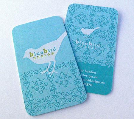 blue bird design business card