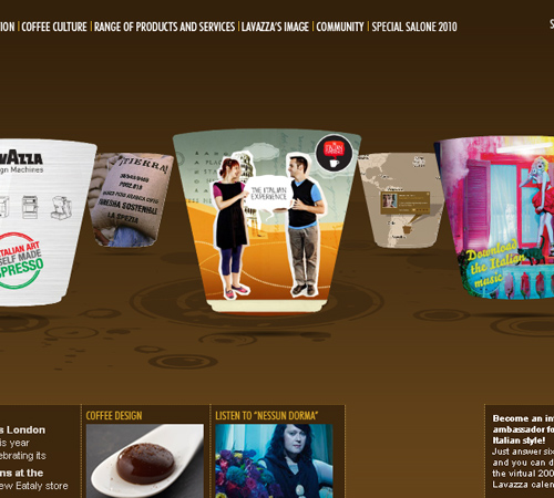 Coffee Websites - Lavazza