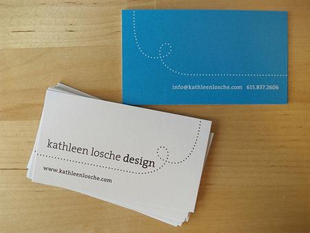 Kathleen losche design business card