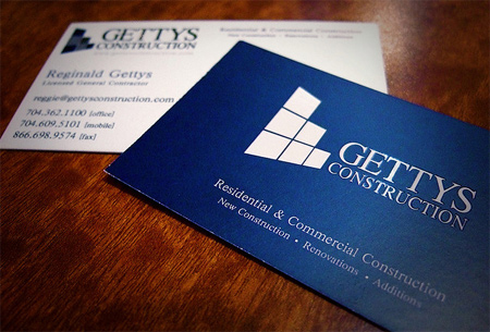 business card-gettys construction