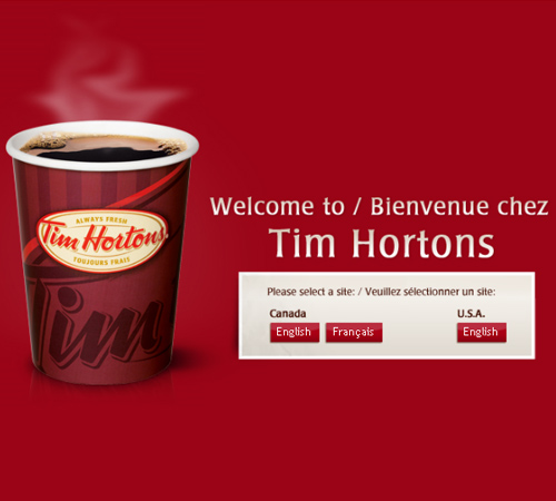 Coffee Websites - Tim Hortons