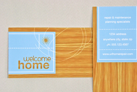 home repair business card
