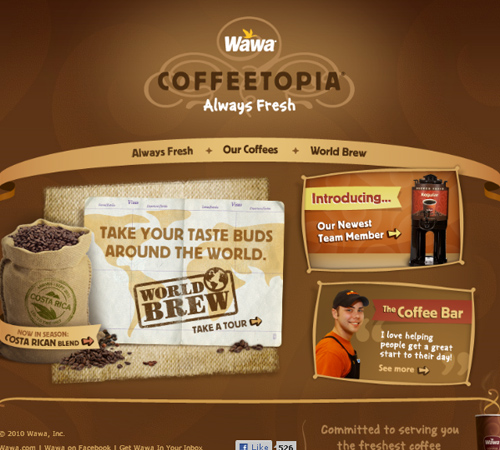 Coffee Websites - Wawa Coffee Topia