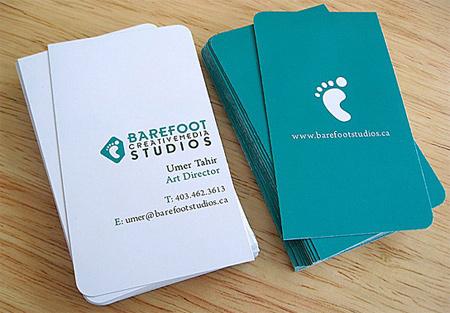 barefoot business card