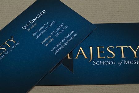 music school business card