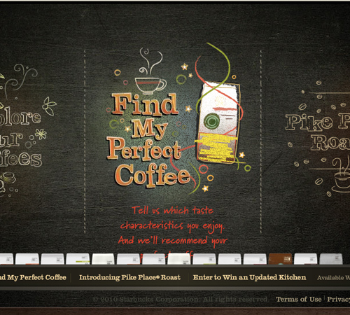 Coffee Websites - Starbucks