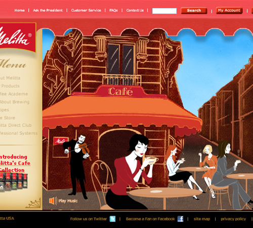 Coffee Websites - Melitta