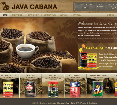 Coffee Websites - Java Cabana