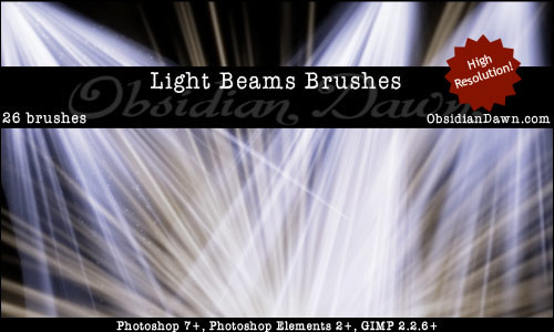 Light Effect Brushes - Beam Rays