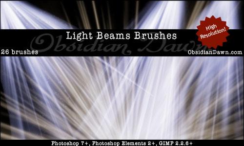 Light Effect Brushes - Beam Rays