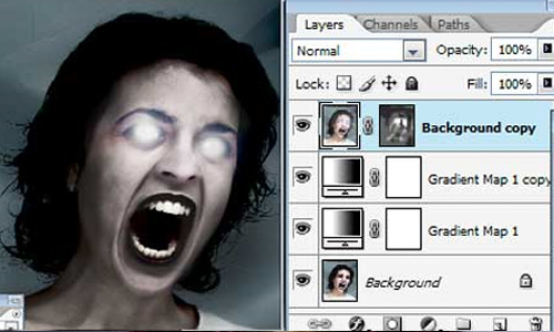 Halloween Photoshop Tutorials - Evil Eye