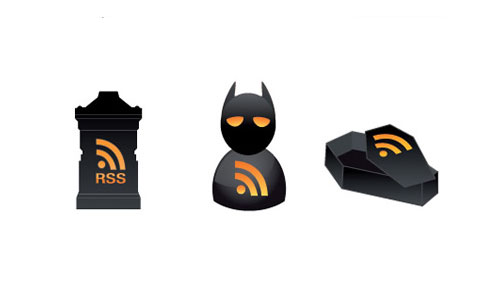 Halloween Icons - Vector Halloween RSS Icons