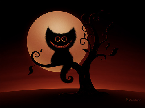 Halloween Desktop Wallpapers - Halloween Kitten