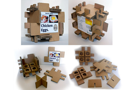 Creative Packaging Design - Egg Packaging Corrugated Card