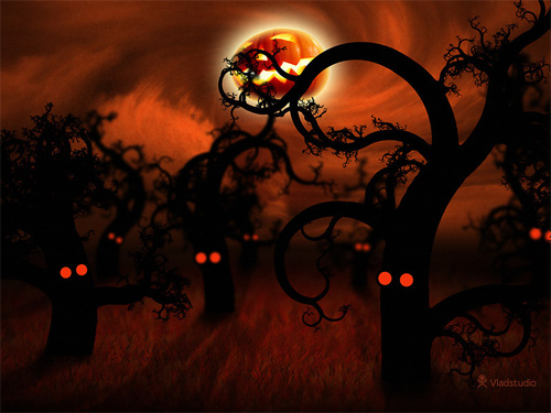 Halloween Desktop Wallpapers - Midnight Forest