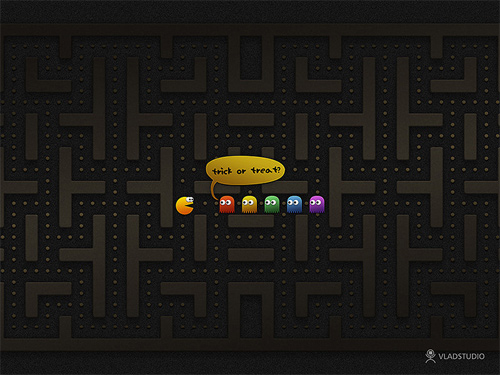 Halloween Desktop Wallpapers - Pacman Halloween