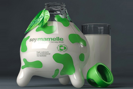 Creative Packaging Design - Soy Mamelle