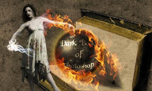 Halloween Photoshop Tutorials - Dark Book
