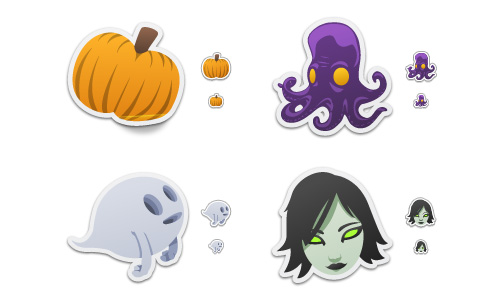 Halloween Icons - Spooky Stickers