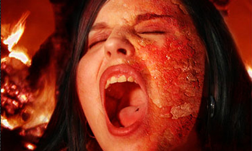 Halloween Photoshop Tutorials - Burning Flesh Effect