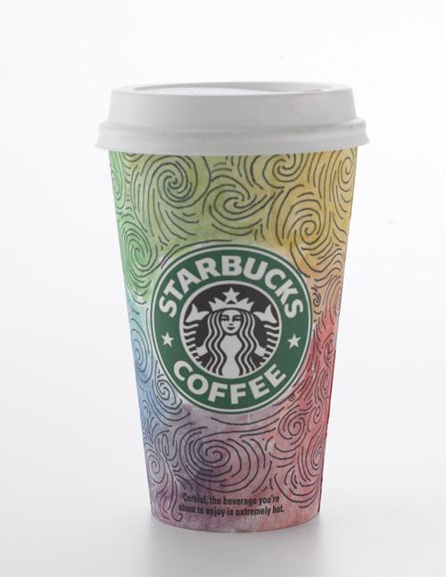 Coffee Cup Design - Rainbow Madness at Starbucks